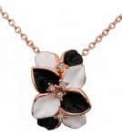 Ожерелье с Цветком черно-белым 1,6 см*2,1 см