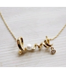 Ожерелье Любовь / сильвер / голд 43 см