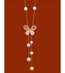Ожерелье с бабочкой 65 см