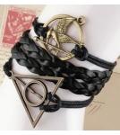 Браслет Гарри Поттер Дары смерти, голодные игры, птица / черный 16cm+5cm