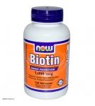 NOW Biotin 5000 mcg - Биотин витамины - БАД