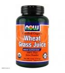 NOW Wheat Grass Juice - Сухой сок из ростков пшеницы (порошок) - БАД