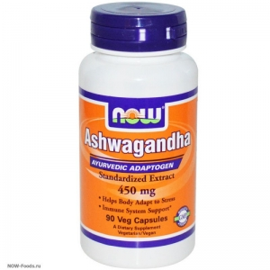 NOW Ashwagandha – Ашвагандха 450 мг - БАД