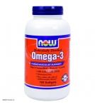 NOW Omega-3 – Омега-3 (жирные кислоты) 1000mg - БАД