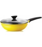 Сковорода-вок с крышкой / Roichen Классика d=26 см, h=8,1 см, v=3 л Корея