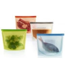 Пакет-контейнер силиконовый / хранение, разогрев, приготовление пищи 1000 мл Испания