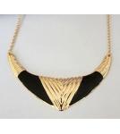 Ожерелье Золото с эмалью / зеленый, черный, синий дл.цепочки 50 см