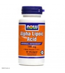 NOW Alpha Lipoic Acid 100 mg - Альфа липоевая кислота - БАД