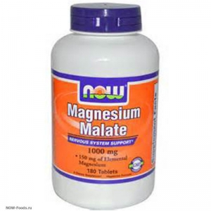 NOW Magnesium Malate – Магний 1000mg - БАД