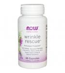 NOW Wrinkle Rescue - Витамины для кожи лица, капсулы от морщин, 60 капс. - БАД