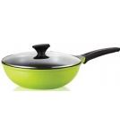 Сковорода-вок с крышкой / Roichen Классика d=28 см, h=8,7 см, v=3,7 л Корея